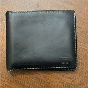 Coach Men Bifold Wallet Black